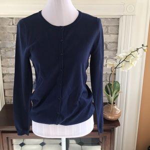 MARIE LUND Cardigan Sweater 100% Merino Wool Sz M
